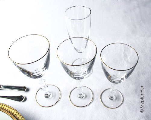Le service de table l 39 anglaise myplanner le blog for Disposition des verres sur la table