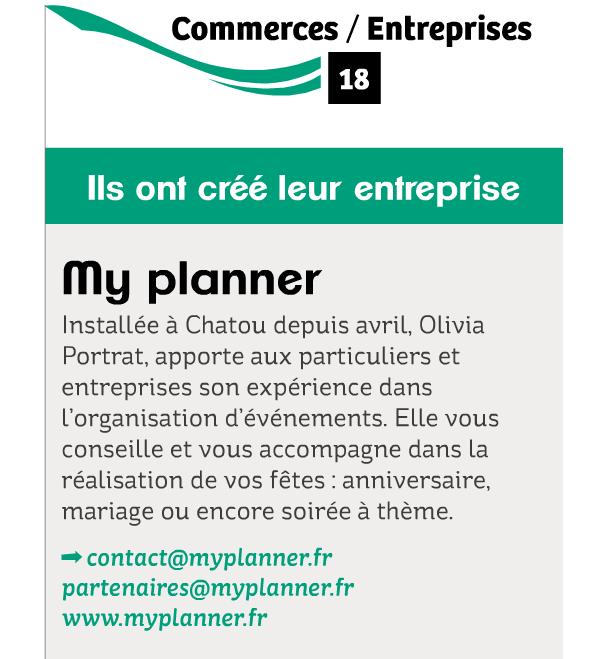 Myplanner presse dans le Chatou magazine Octobre 2014