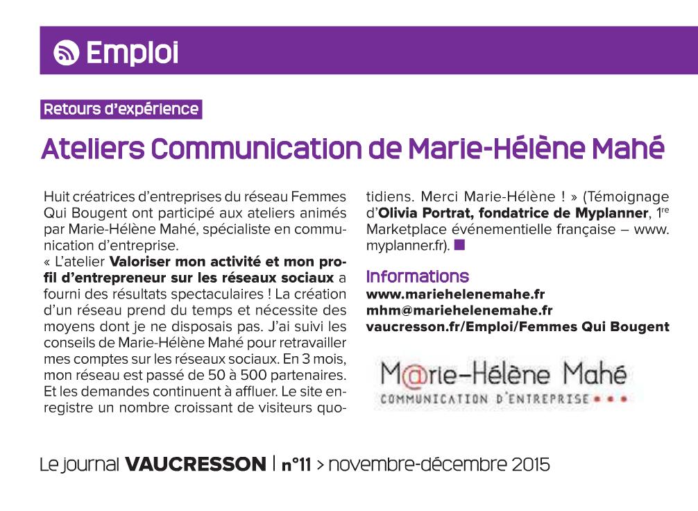 Publication presse Myplanner Journal de Vaucresson Nov Dec 2015